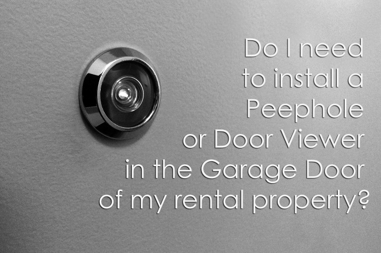 ... That We Help Our Clients And Property Owners Keep Their Rental Homes  Compliant With TX Property Codes And Installing Door Viewers AKA Peepholes  Is Just ...